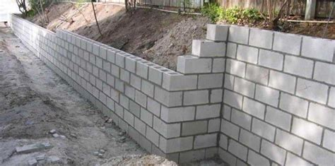 foam concrete forms for retaining walls construction of concrete block retaining walls with steps
