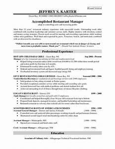 resume templates for restaurant managers sample resume With resume templates for restaurant managers