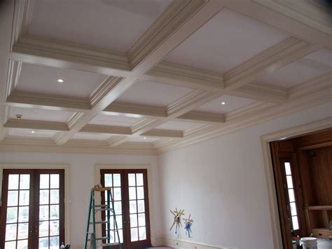 Box Beam Ceiling by Custom Cauffered Coffered Ceilings Box Beams Crown