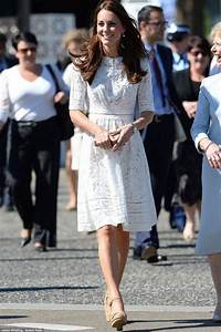 Kate Middleton Elegant Knee Length White Lace Cocktail ...