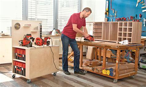 mobile werkbank selber bauen selbstde