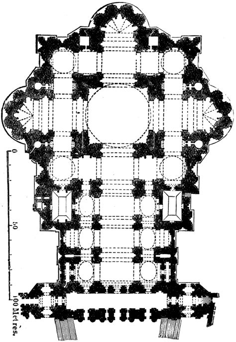 ground plan  st peters rome clipart