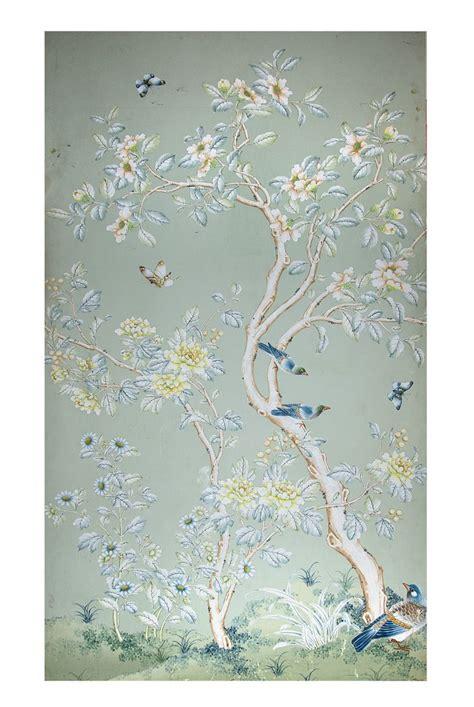 original gracie wallpaper panel mounted  wood