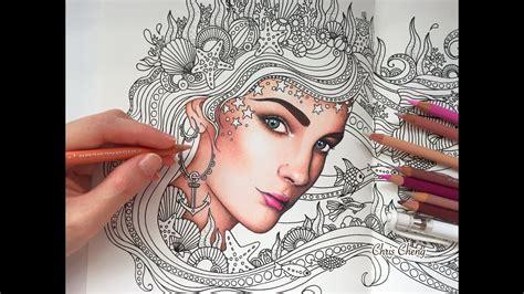 colored skin daydreams coloring book prismacolor
