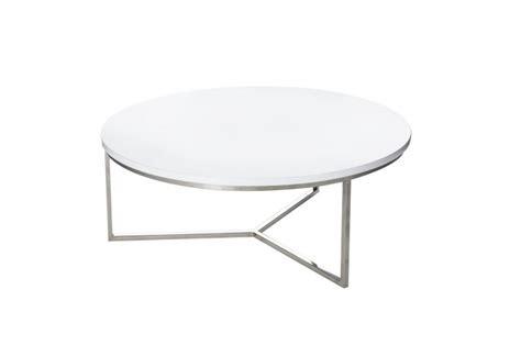 table basse ronde moderne en m 233 tal et plateau bois laqu 233 e blanc by