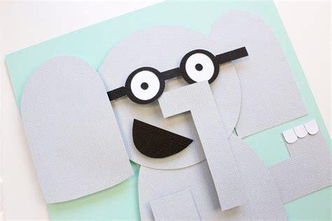 paper piecing tutorial  elephant  piggie tombow usa blog