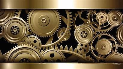 Gears Wallpapers Steampunk Gear Mechanical Engineering Gold