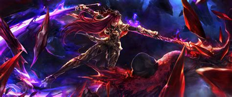 2560x1080 Anime Wallpaper - downaload scathach fate grand order warrior anime
