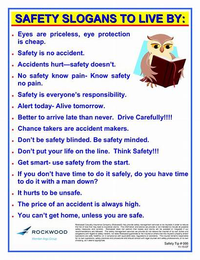 Slogans Safety Quotes Workplace Health Funny Internet