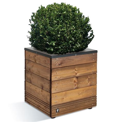 bac a fleurs bois bac 224 fleurs bois trait 233 acier l45 h47 5 cm collectors plantes et jardins