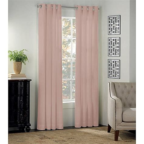 bed bath and beyond blackout drapes newport grommet window curtain panel and valance bed