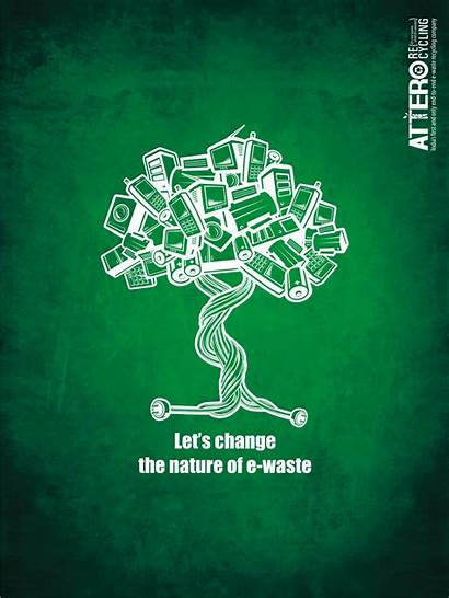 Recycling Waste Nature Attero Electronics Poster Recycle