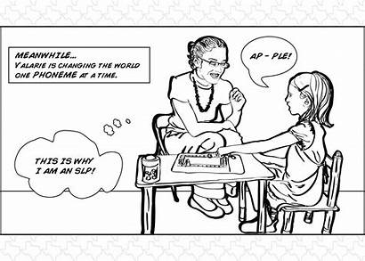 Speech Therapy Language Slp Pathology Pathologist Comic