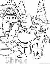 Shrek Cartoon Coloring Pages Print Zoom sketch template