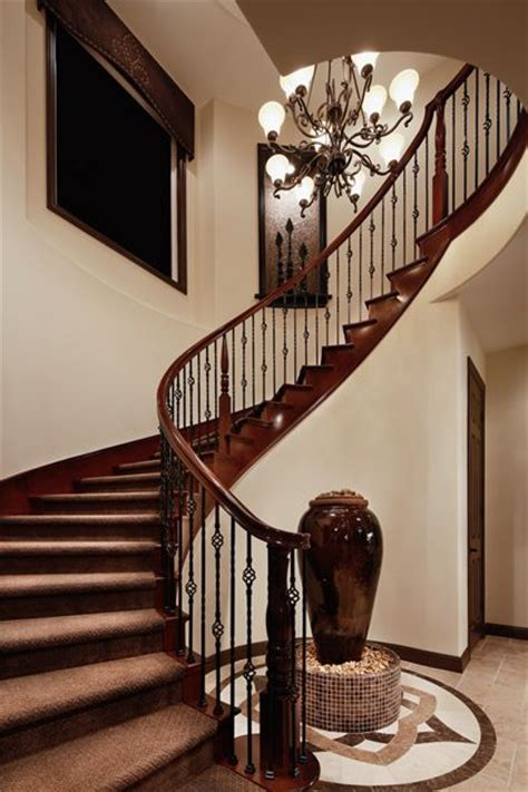 curved staircase ideas  pinterest foyer
