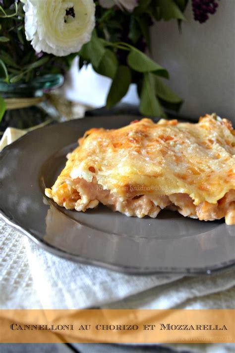 cuisine italienne cannelloni cannelloni au chorizo et mozzarella recette de cuisine