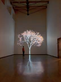 Artwork Projector by Quot Shimmering Tree Quot Digital Installation Mesmerizes At