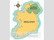 Ireland Map Clipart St Patrick's Day Clipart