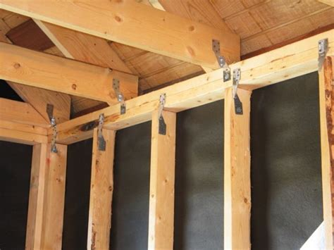ceiling joists  top plates weather considerations
