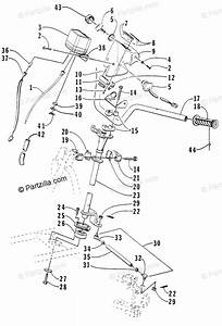 Arctic Cat Atv 1998 Oem Parts Diagram For Steering