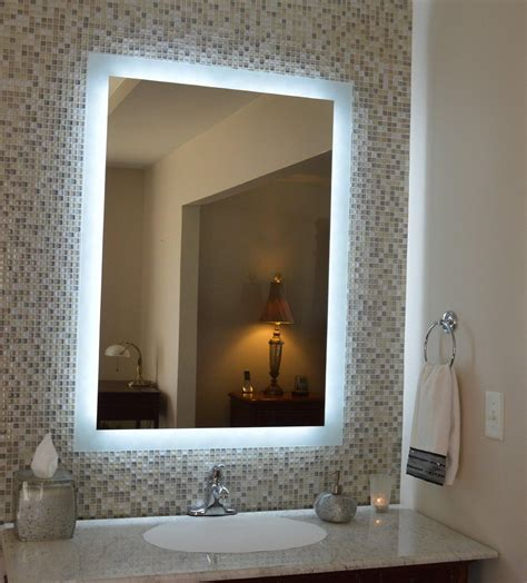 Large Bathroom Mirrors With Lights by 20 Inspirations Bathroom Wall Mirrors With Lights Mirror