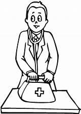 Doctor Coloring Bag Medical Tools Bring Drawing Medicine Colouring Doctors Sheets Printable Clipartmag Getdrawings Getcolorings sketch template