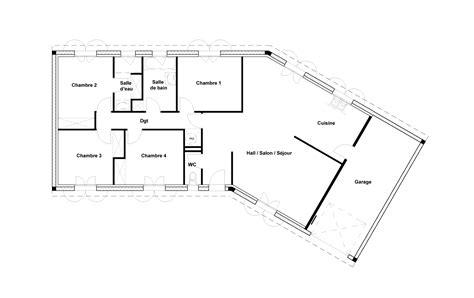 plan maison bois plain pied 4 chambres plan maison 4 chambres agrandir le plan plain pied n9