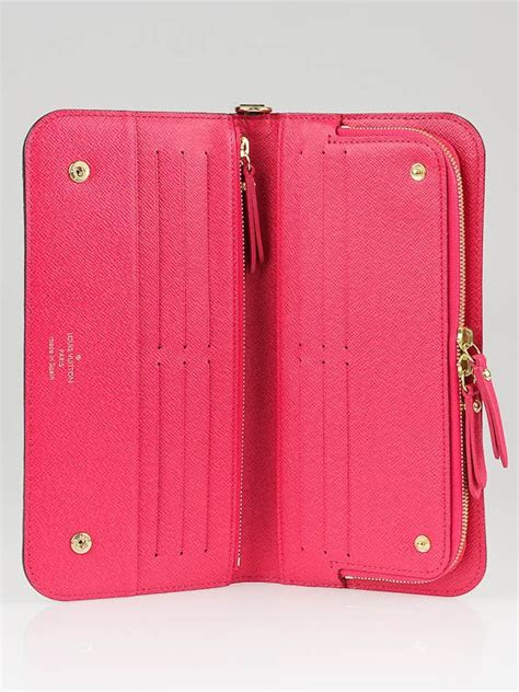 louis vuitton monogram canvas pink insolite wallet yoogis closet