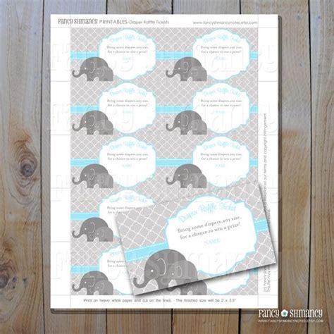 printable elephant diaper raffle diaper raffle