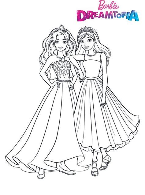 kids  funcom coloring page barbie dreamtopia glitter