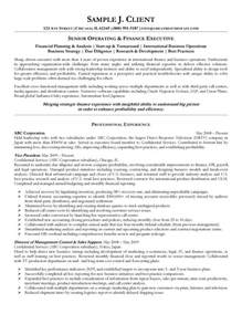 Inside Sales Cover Letter Senior Operating And Finance Executive Resume