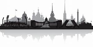 Saint Petersburg city skyline vector silhouette   Stock ...