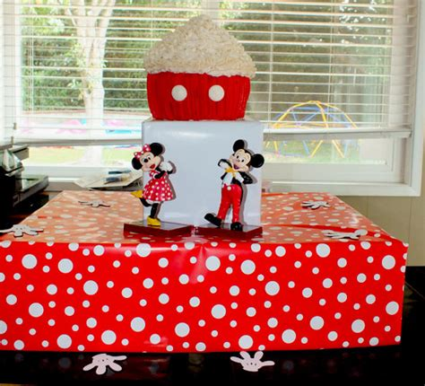 mickey mouse cupcake stand  sisters