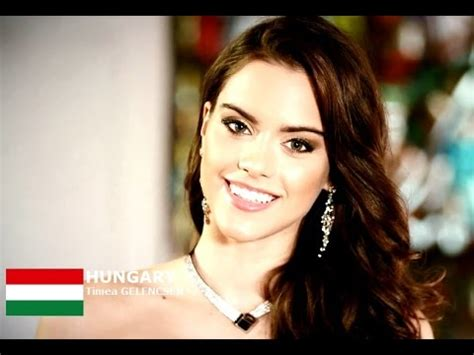 100,447 likes · 6,793 talking about this. HUNGARY - Timea GELENCSER - Contestant Introduction: Miss World 2016 - YouTube