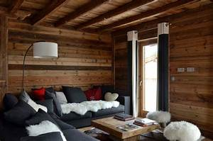 modern chalet interior design cosy neve design With decoration interieur chalet moderne