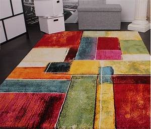 tapis moderne splash de marque colore modele carrele neuf With tapis moderne coloré