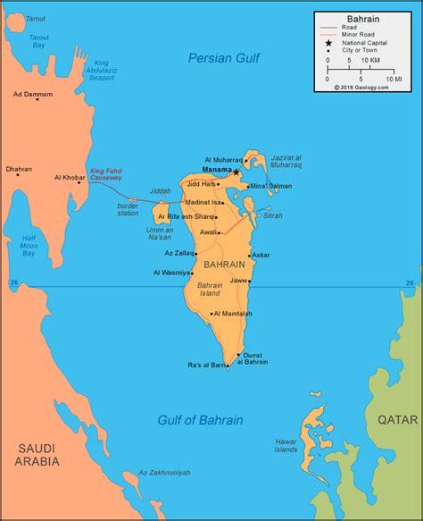 Bahrain Map and Satellite Image
