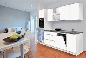 Küche 280 Cm : respekta premium grifflose k chenzeile k che k chenblock 280 cm weiss matt ceran ebay ~ Markanthonyermac.com Haus und Dekorationen
