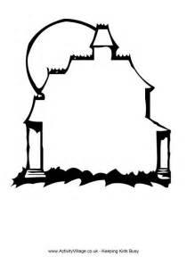 Halloween Haunted House Outline
