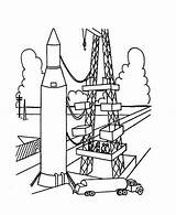 Rocket Coloring Launch Ship Pages Ready Launcher Template Rockets Templates sketch template