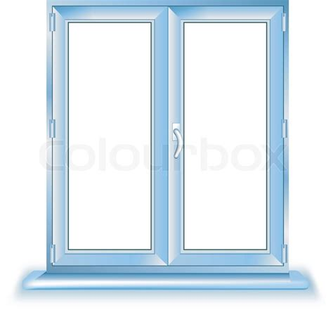 window template plastic window template model with clipping path included vector illustration stock vector