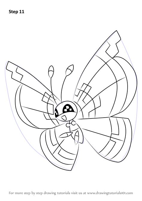 Kleurplaat Avalugg by Learn How To Draw Vivillon From Step By