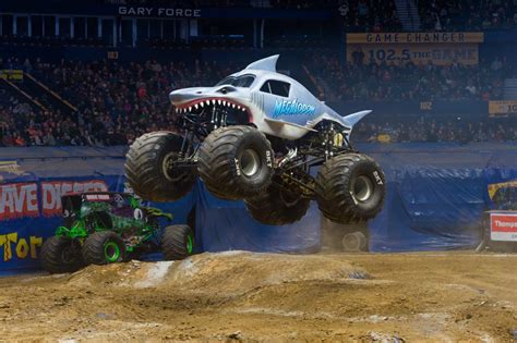 monster truck show anaheim stadium monster jam 174 crushes through angel stadium of anaheim