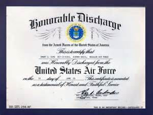Honorable Discharge DD 214 Form
