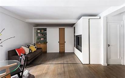 Apartment Micro Wall Multifunctional Sliding Foot Square