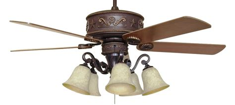 cc kvwst lk37a western lighted ceiling fan with