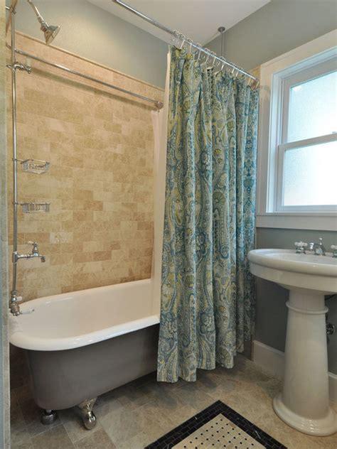 Clawfoot Tub Shower Bathroom Designs With Small Windows