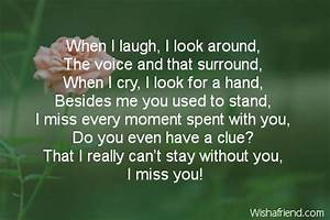 When I look around, Missing You Poem