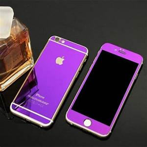 Apple iphone 6 6s Front-Back Purple Tempered Screen Glass ...