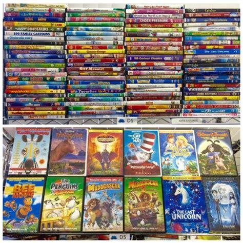 dvd lot of 100 great titles disney pixar dreamworks pbskids family what s it worth